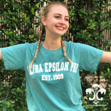 Comfort Colors Short Sleeve Shirt with Varsity Design