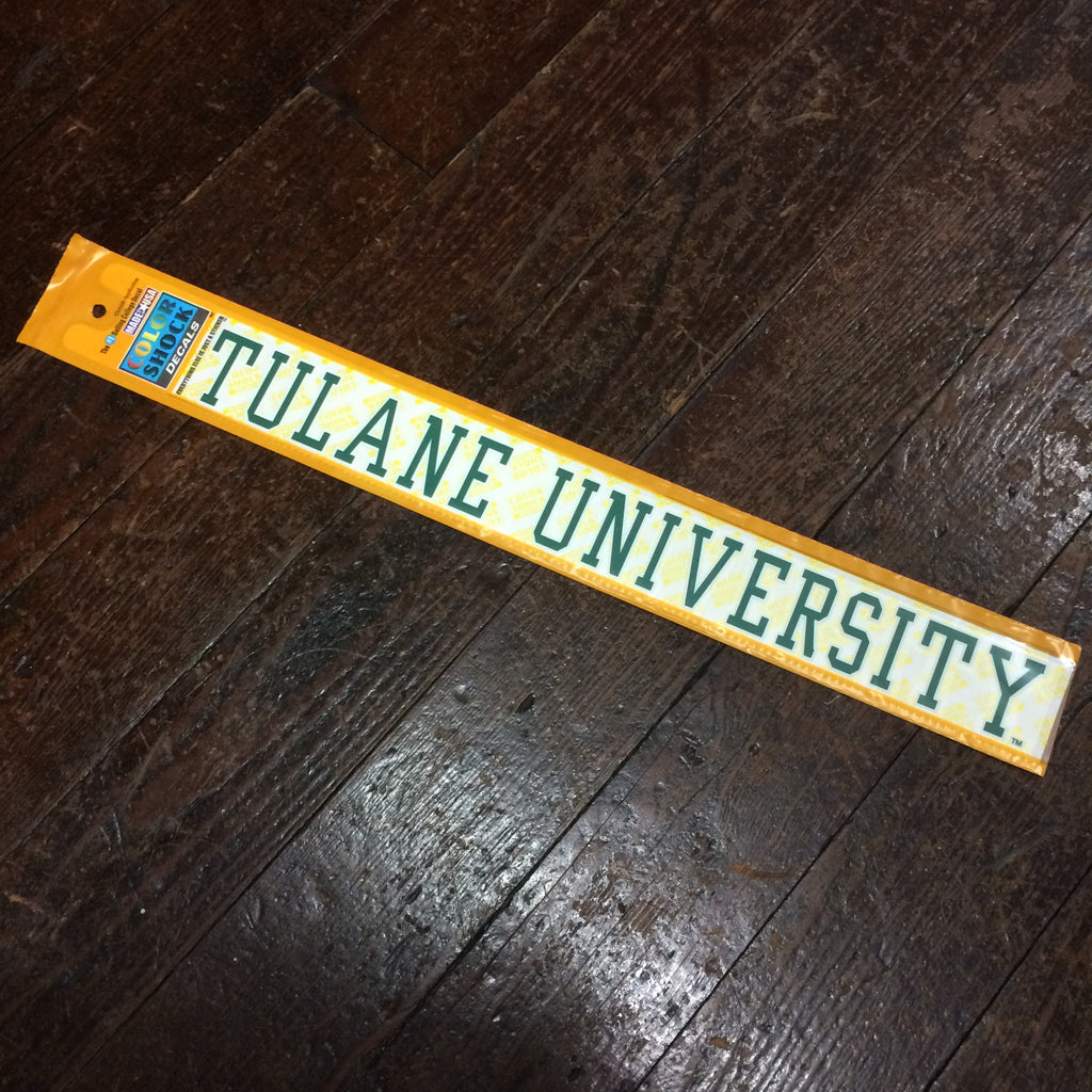 Tulane University Long Decal - CDI - Campus Connection