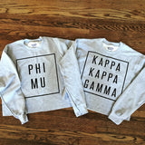 Sorority Boxed In Cropped Sweatshirt