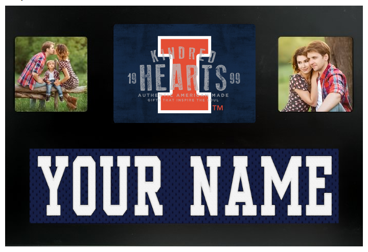 Illinois Fighting Illini NCAA Jersey Nameplate Custom Picture Frame