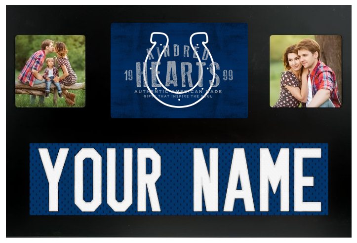 Indianapolis Colts NFL Jersey Nameplate Custom Picture Frame