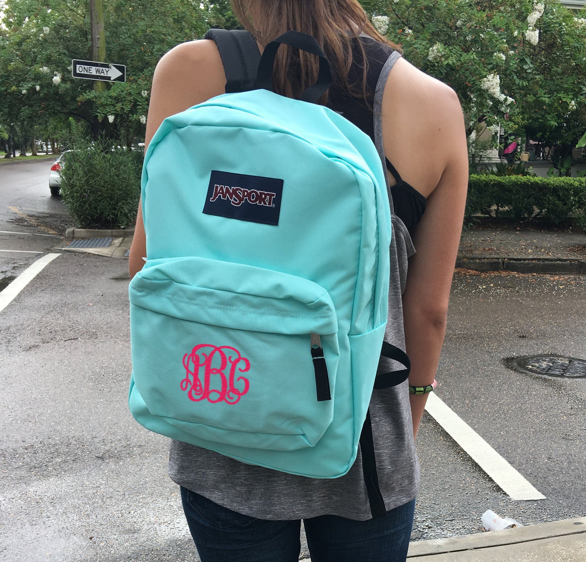 Monogrammed Jansport Backpack – Campus Connection