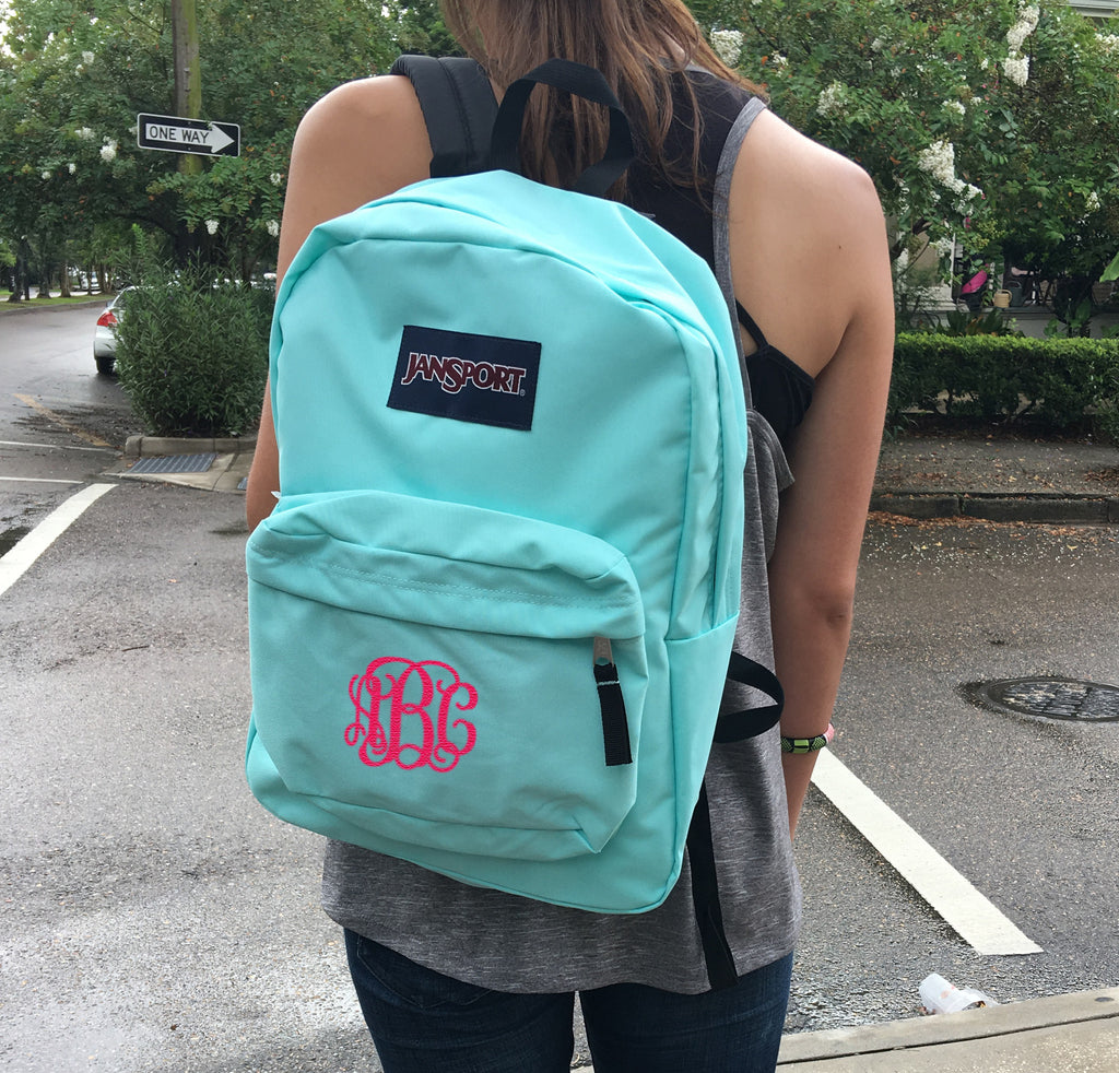 564b45d9fa43 Monogrammed Jansport Backpack - Campus Connection - Campus Connection - 1