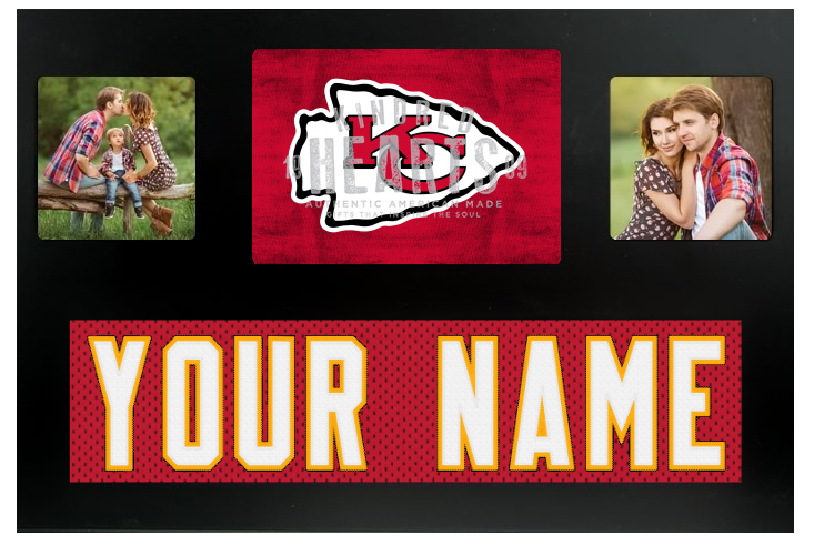 Kansas City NFL Jersey Nameplate Custom Picture Frame