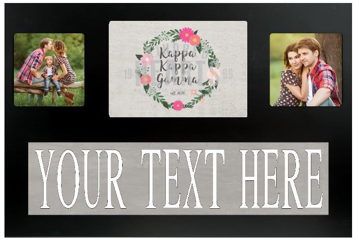 Kappa Kappa Gamma Floral Custom Picture Frame Campus Connection