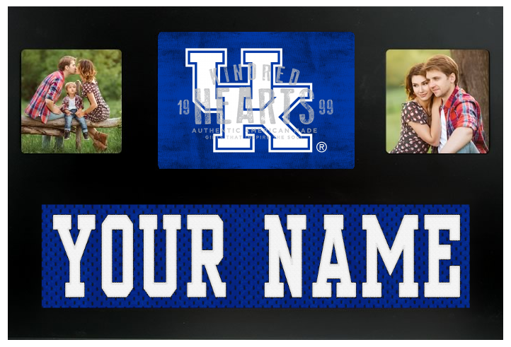 Kentucky Wildcats NCAA Jersey Nameplate Custom Picture Frame