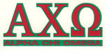 Sorority Letter Decal Sticker - Angelus Pacific - Campus Connection - 3