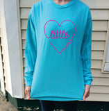 Big/Little/GBig/GGBig Sorority Script Heart Comfort Colors Long Sleeve - Campus Connection - Campus Connection - 2