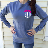 Big/Little/GBig/GGBig Family Saying Sorority Bow Comfort Colors Long Sleeve - Campus Connection - Campus Connection - 2