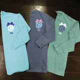Big/Little/GBig/GGBig Sorority Bow Monogram Comfort Colors Long Sleeve - Campus Connection - Campus Connection - 1