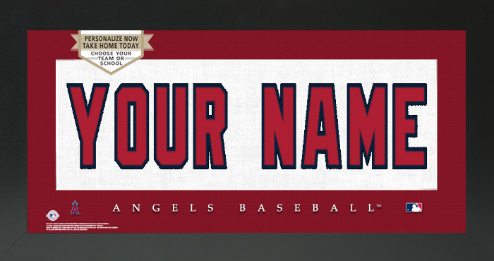 Los Angeles Angels MLB Jersey Nameplate Custom Framed Sign