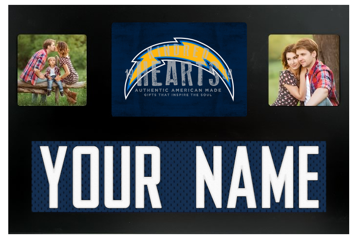 Los Angeles Chargers NFL Jersey Nameplate Custom Picture Frame