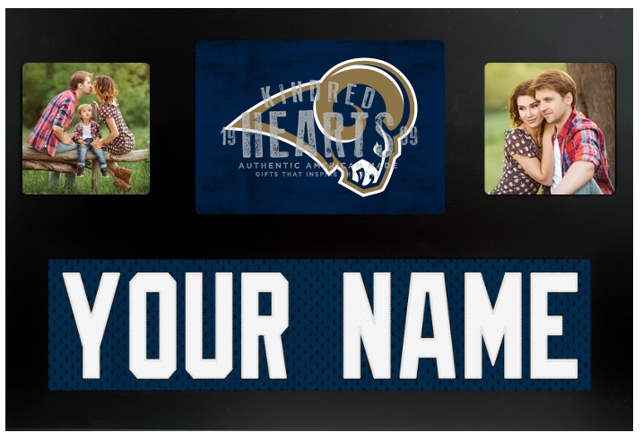 Los Angeles Rams NFL Jersey Nameplate Custom Picture Frame
