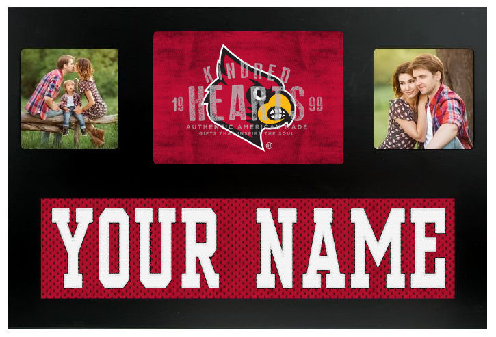 Louisville Cardinals NCAA Jersey Nameplate Custom Picture Frame