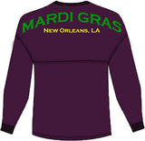 Mardi Gras Spirit Jersey - Spirit Football Jersey - Campus Connection - 2