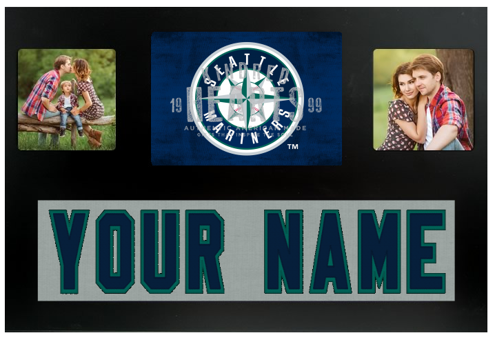 Seattle Mariners MLB Jersey Nameplate Custom Picture Frame