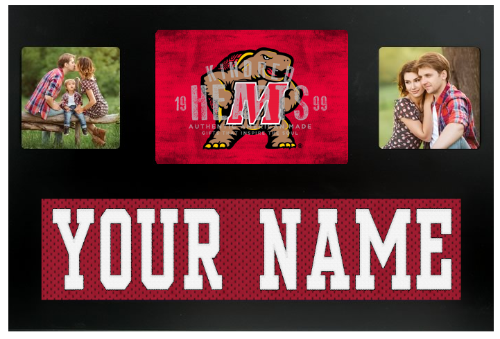 Maryland Terrapins NCAA Jersey Nameplate Custom Picture Frame