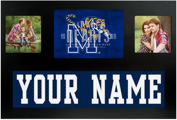 Memphis Tigers NCAA Jersey Nameplate Custom Picture Frame