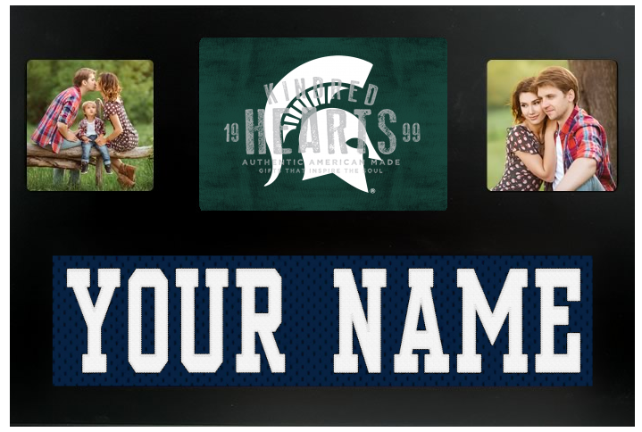 Michigan State Spartans NCAA Jersey Nameplate Custom Picture Frame