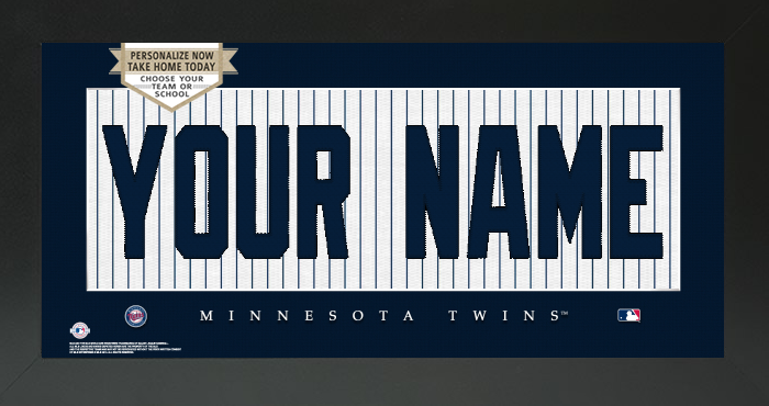 Minnesota Twins MLB Jersey Nameplate Custom Framed Sign
