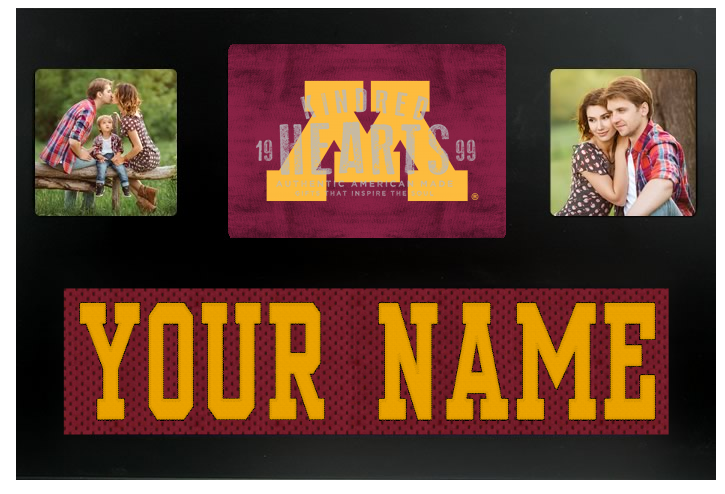 Minnesota Golden Gophers NCAA Jersey Nameplate Custom Picture Frame