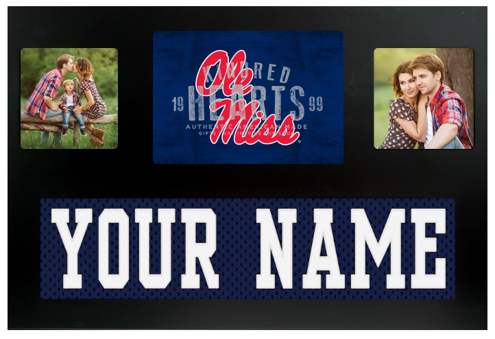 the latest 44055 f5920 Ole Miss Rebels NCAA Jersey Nameplate Custom Picture Frame