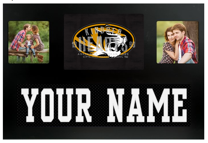 Missouri Tigers NCAA Jersey Nameplate Custom Picture Frame