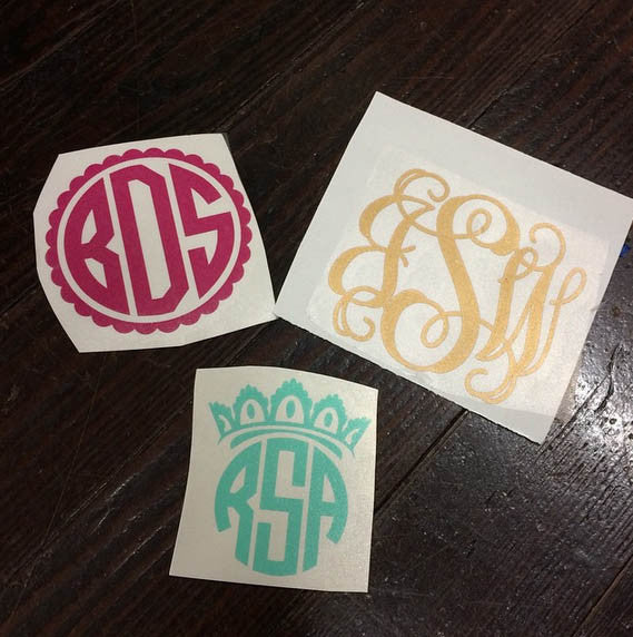Custom Monogram Decal Sticker - Campus Connection - Campus Connection - 1