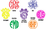 Custom Lilly Pulitzer Monogram State Decal Sticker - Campus Connection - Campus Connection - 3