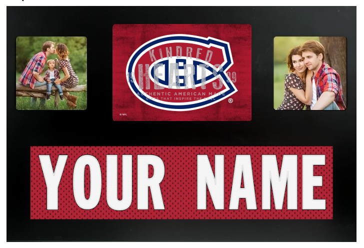 Montreal Canadians NHL Jersey Nameplate Custom Picture Frame