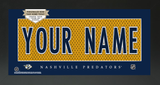 Nashville Predators Jersey NHL Nameplate Custom Framed Sign