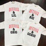 Netflix and Chill Big/Little/GBig/GGBig Sorority Comfort Colors T-Shirts - Campus Connection - Campus Connection - 2
