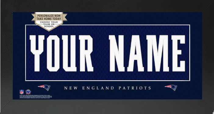 New England Patriots NFL Jersey Nameplate Custom Framed Sign – Campus  Connection 38bfb5112