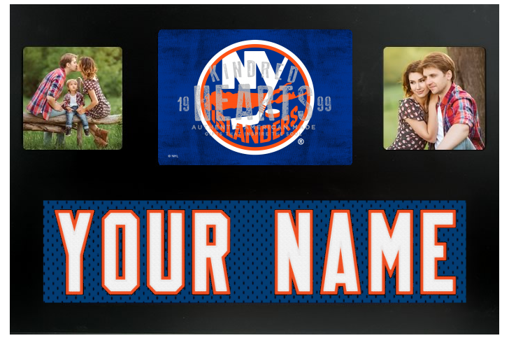 New York Islanders NHL Jersey Nameplate Custom Picture Frame