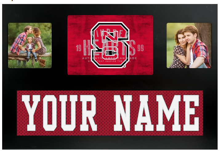 North Carolina State Wolfpack NCAA Jersey Nameplate Custom Picture Frame