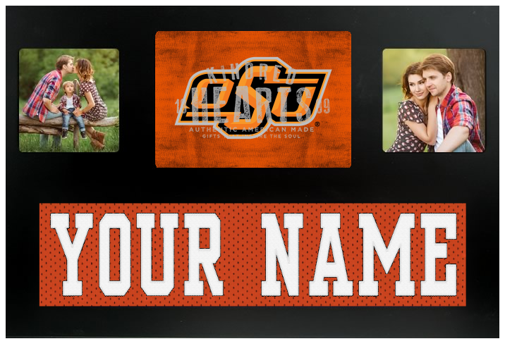 Oklahoma State Cowboys NCAA Jersey Nameplate Custom Picture Frame