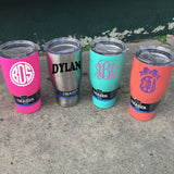 Custom Monogrammed ORCA Chaser 27 oz. YETI Rambler Tumbler REPLICA - ORCA - Campus Connection - 1