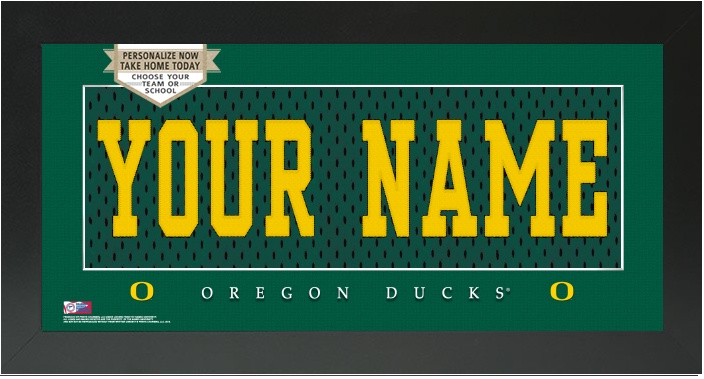 Oregon Ducks NCAA Jersey Nameplate Custom Framed Sign