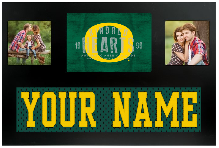 Oregon Ducks NCAA Jersey Nameplate Custom Picture Frame