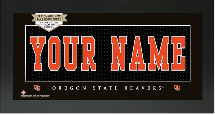 Oregon State Beavers NCAA Jersey Nameplate Custom Framed Sign