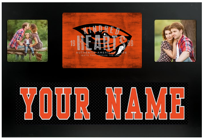 Oregon State Beavers NCAA Jersey Nameplate Custom Picture Frame