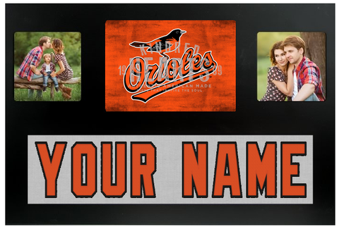 Baltimore Orioles MLB Jersey Nameplate Custom Picture Frame