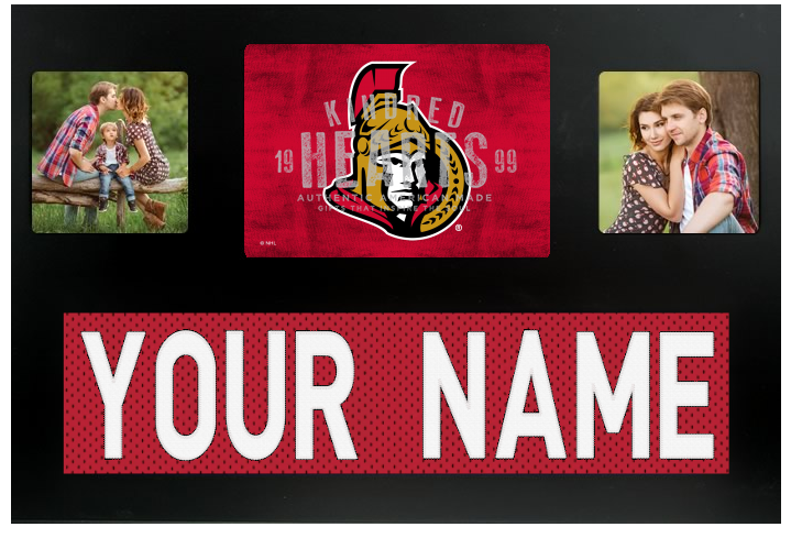 Ottawa Senators NHL Jersey Nameplate Custom Picture Frame