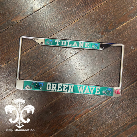 Tulane Angry Wave License Plate Frame
