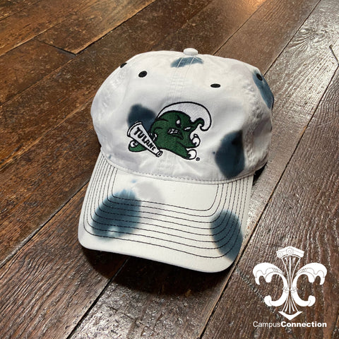 Tulane Angry Wave Tie Dye Hat - Greyscale