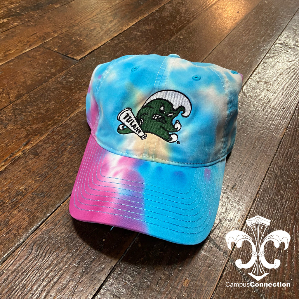 Tulane Angry Wave Tie Dye Hat - Pastel