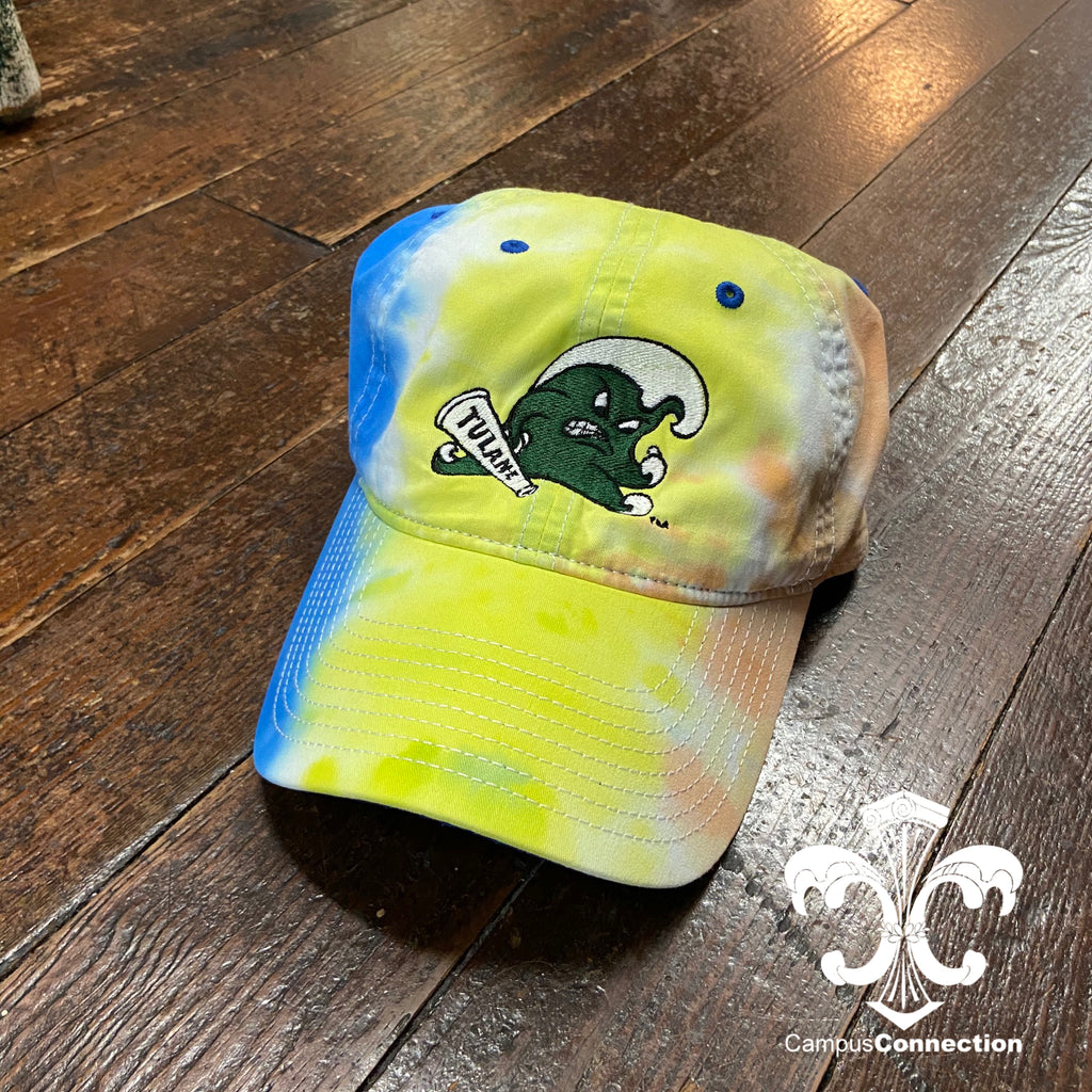 Tulane Angry Wave Tie Dye Hat - Sunrise