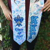 Sorority Class of 2017 Floral Satin Graduation Stole
