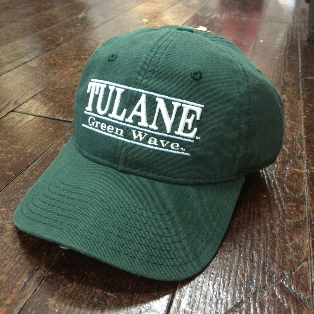 Tulane Green Wave 3-Bar Hat Green - The Game - Campus Connection