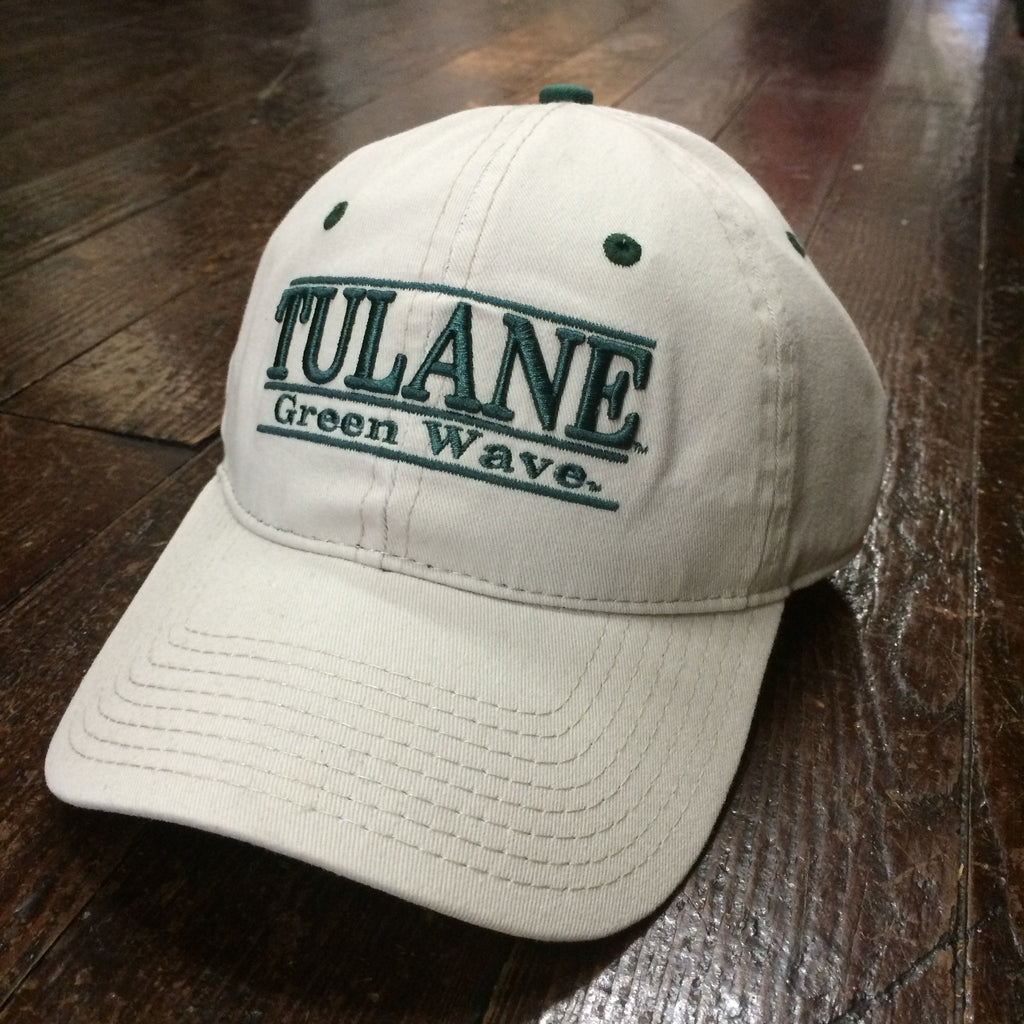Tulane Green Wave 3-Bar Hat Khaki - The Game - Campus Connection